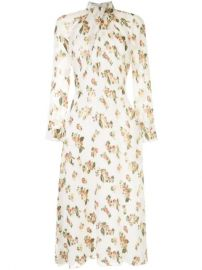 Adam Lippes Floral twist-neck Dress - Farfetch at Farfetch