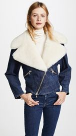 Adam Lippes Moto Jacket with Shearling Collar at Shopbop