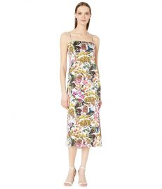 Adam Lippes Printed Satin Chiffon Cami Dress at Zappos
