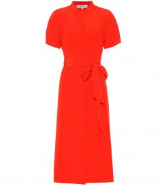 Addilyn silk cr  pe de chine dress at Mytheresa