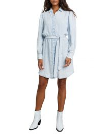 Adele Denim Belted Shirtdress at Neiman Marcus