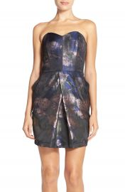 Adelyn Rae Strapless Jacquard Sheath Dress at Nordstrom