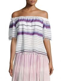 Adia Striped Off-The-Shoulder Top at Gilt
