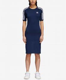 Adicolor Cotton Bodycon Dress by Adidas at Macys