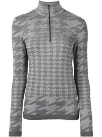 Adidas By Stella Mccartney Houndstooth Pattern Sweater - Tessabit at Farfetch