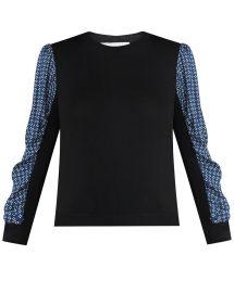 Adler Mixed-Media Sweater by Veronica Beard at Veronica Beard