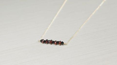 AdmirableJewels Black Spinel Necklace at Etsy