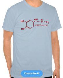 Adrenaline molecule tee at Zazzle