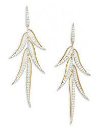 Adriana Orsini - Pirouette Crystal Leaf Drop Earrings at Saks Fifth Avenue