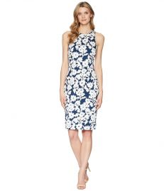 Adrianna Papell Daisy Field Sleeveless Bodycon Dress at Zappos
