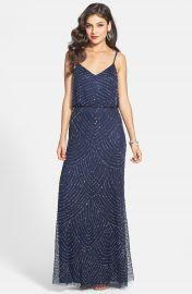Adrianna Papell Embellished Blouson Gown  Regular   Petite at Nordstrom