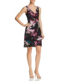 Adrianna Papell Floral Jersey Dress   Bloomingdale  39 s at Bloomingdales