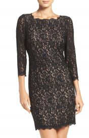 Adrianna Papell Lace Overlay Sheath Dress  Regular   Petite at Nordstrom