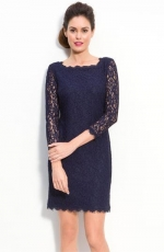 Adrianna Papell Lace Overlay Sheath Dress at Nordstrom