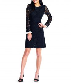 Adrianna Papell Lace Sleeve Sheath Dress at Dillards
