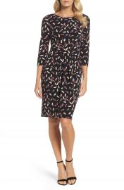Adrianna Papell Print Stretch Sheath Dress  Regular   Petite at Nordstrom