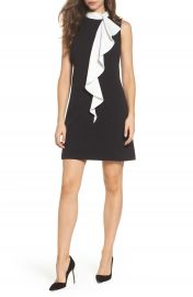 Adrianna Papell Ruffle Collar Shift Dress at Nordstrom
