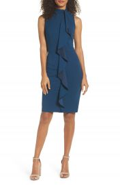 Adrianna Papell Ruffle Sheath Dress  Regular   Petite at Nordstrom