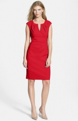 Adrianna Papell Side Pleat Sheath Dress at Nordstrom
