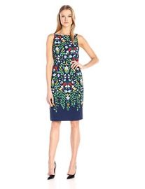 Adrianna Papell Sleeveless Printed Sheath Dress at Amazon