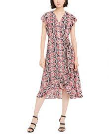 Adrianna Papell Snakeskin-Print Dress    Reviews - Dresses - Women - Macy s at Macys