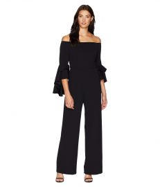 Adrianna Papell Statement Sleeve Stretch Crepe Jumpsuit at Zappos