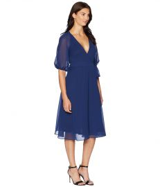 Adrianna Papell Textured Chiffon Wrap Dress at Zappos
