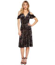 Adrianna Papell Velvet Burnout Midi Dress at Zappos