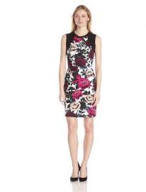Adrianna Papell Womenand39s Sleeveless Dress with Sweater Trim  Amazoncom at Amazon