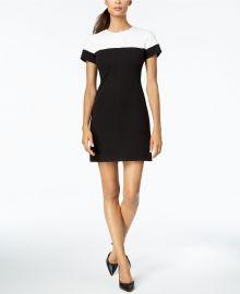 Adrianna papell Two-Tone Colorblocked Sheath Dress at Macys