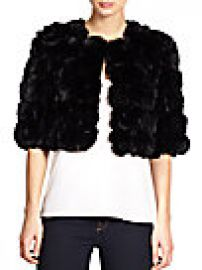 Adrienne Landau Cropped Rabbit Fur Jacket br at Saks Fifth Avenue