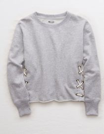 Aerie Lace Up Side Sweatshirt at American Eagle