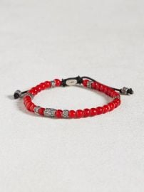 African Glass Beaded Bracelet at John Varvatos