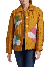 Aida Miki Appliqué Quilted Jacket at Saks Fifth Avenue