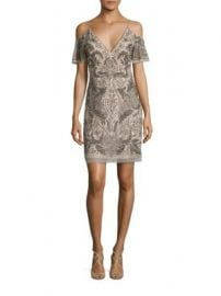 Aidan Mattox - Beaded Cold-Shoulder Cocktail Dress at Saks Fifth Avenue