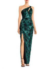 Aidan Mattox Metallic Jacquard One-Shoulder Gown Women - Bloomingdale s at Bloomingdales