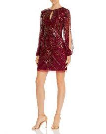 Aidan Mattox Split-Sleeve Sequined Dress   Women - Bloomingdale s at Bloomingdales