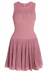 Aigrette pink Boat Neck Dress by Alaia  at Boutique 1