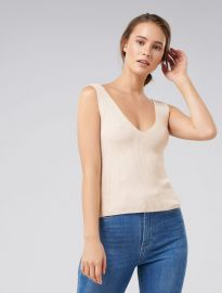 Aimee vneck knitted tank top at Ever New