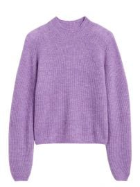 Aire Cropped Puff-Sleeve Sweater at Banana Republic
