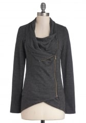 Airport Greeting Cardigan in Charcoal at ModCloth