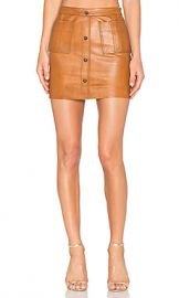 Aje Shrimpton Leather Mini Skirt in Tan from Revolve com at Revolve