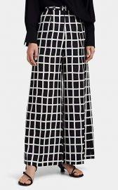 Akira Naka Windowpane-Checked Silky Twill Pants at Saks Fifth Avenue