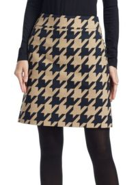 Akris Punto Houndstooth Skirt at Saks Fifth Avenue