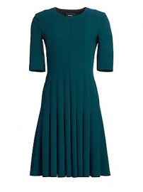 Akris - Elbow Sleeve A-Line Pleat Dress at Saks Fifth Avenue