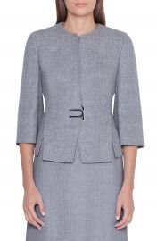 Akris Double Face Linen  amp  Wool Jacket   Nordstrom at Nordstrom