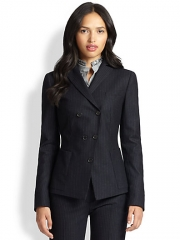 Akris Punto - Double-Breasted Pinstripe Blazer at Saks Fifth Avenue