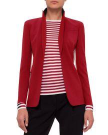 Akris Punto Single-Breasted Wool-Blend Jacket at Neiman Marcus