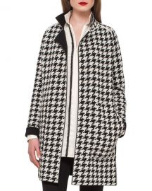 Akris Reversible Houndstooth Cashmere Coat at Neiman Marcus