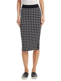 Akris punto - Grid Pattern Midi Pencil Skirt at Saks Fifth Avenue
